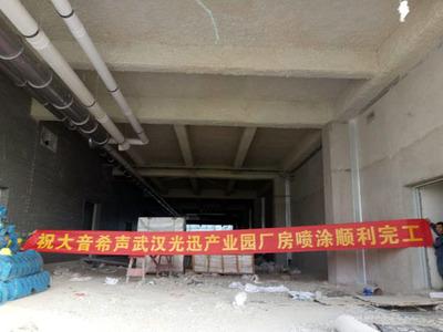 武汉光迅产业园厂房喷涂